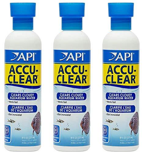 Freshwater Aquarium Clarifier API Accu-Clear, 8-oz Bottle (3 Pack)