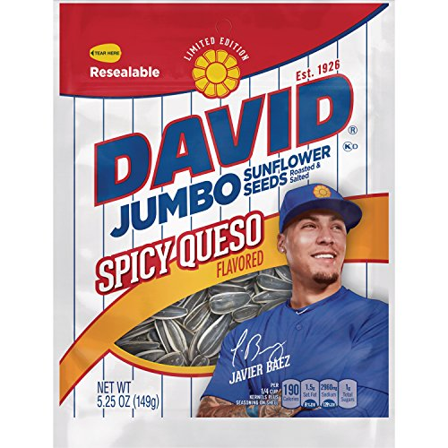 - David Seeds Jumbo Sunflower, Limited Edition Javier Baez Spicy Queso, 5.25 Ounce