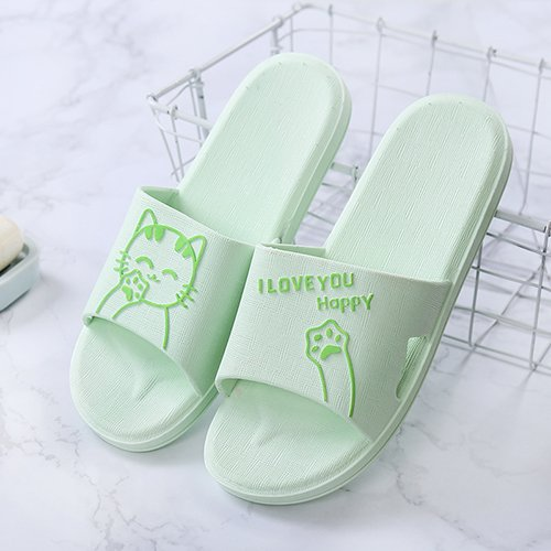 Summer Cool Bathroom 猫 Deodorization Water 37 Is Slippers Couples And 38 Green The Home Soft Indoor Non Fankou Bath slip Shoes Girl wCBqExa