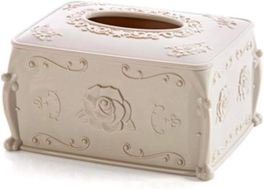 Lila WPOS Caja de Almacenamiento de pl/ástico Soporte de Papel en Rollo Caja de pa/ñuelos para el hogar Servilleta Creativa