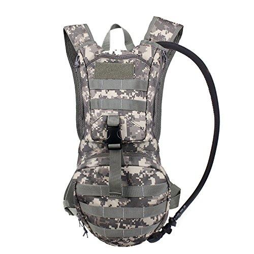 Unigear Hydration Rucksack Trinkrucksack Taktischer Hydrapack-Trinkblase mit Trinkschlauch Backpack mit 2,5 l Wasser-Blasen perfekt für Wandern Radfahren Joggen, Spazieren Klettern und Bergsteigen (ACU)