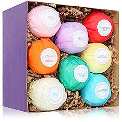 HanZa All Natural Bath Bombs Relaxation Kit (8 Bath Bombs)