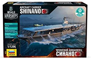 """ZVEZDA 9202 - Aircraft Carrier """"Shinano"""" - Plastic Model Kit Scale 1/1200 24 Details Lenght 8.5"""""""