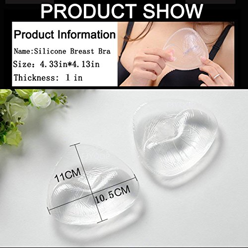 Silicone Breast Inserts - Waterproof Enhancers Bra Inserts A to C Cup for Swimsuits & Bikini by FJYQOP by FJYQOP (Image #5)