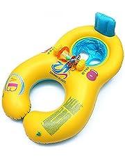 Galleggiante di nuoto per la mamma,0-18 mesi di seggiolino per il nuoto gonfiabile sicuro per bambini con schienale,seggiolino per il bagnetto per il nuoto,piscina per il nuoto di doppia persona