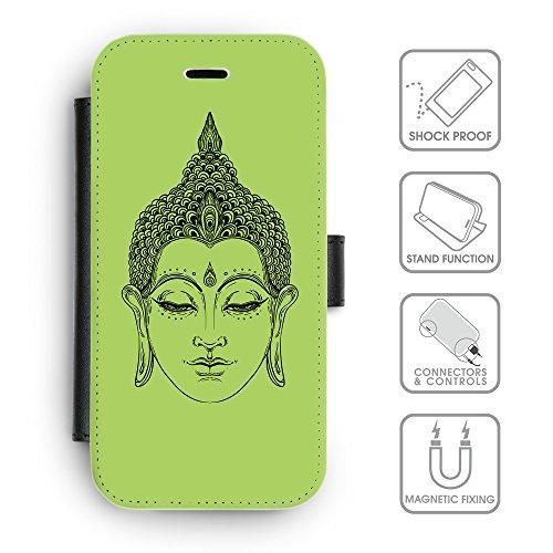 Flip PU Leather Wallet Case avec des fentes de carte de crédit // Q07700628 Bouddha 6 poule // apple iPhone 6s 2015