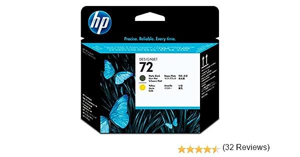 HP C9384A 72 Cabezal de Impresión Original, 1 unidad, negro mate y ...