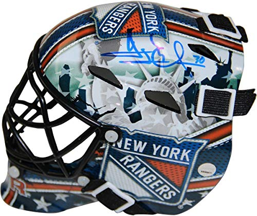 Henrik Lundqvist New York Rangers Signed Mini Goalie Mask - Steiner Sports Certified - Autographed NHL Helmets and -