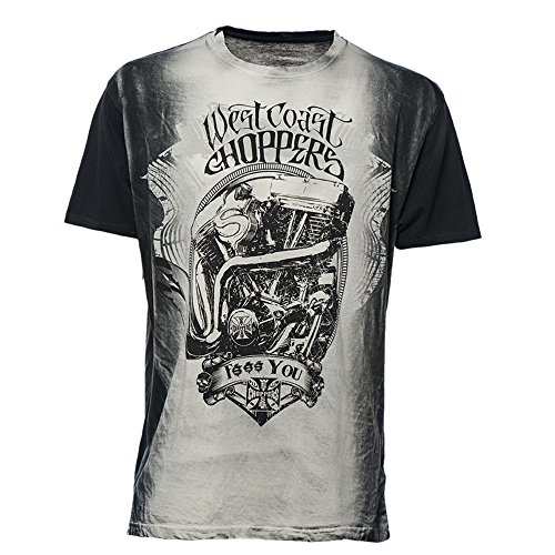 shirt West F T You Coast Choppers Grey RxqTn7U