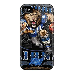 New Snap-on SuperMaryCases Skin Case Cover Compatible With Iphone 4/4s- Detroit Lions