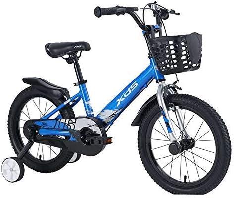 """YSA キッズバイクフリースタイルボーイズガールズガールズバイクバイク3カラー、14""""、16""""スタビライザーとホルダー付き自転車"""
