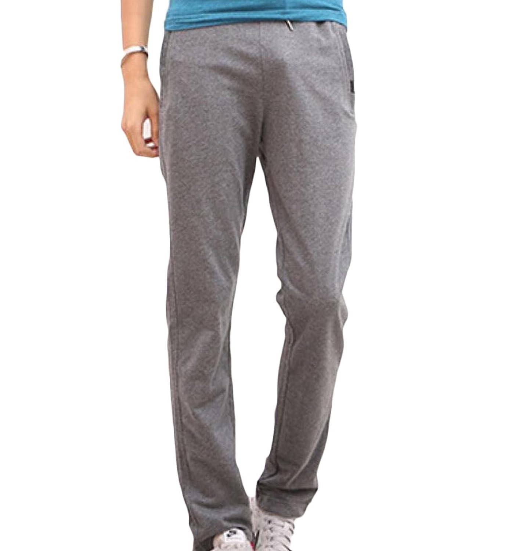 Top Comfy Mens Slim Stitching Stretch Breathable Slacks Sweatpants hot sale