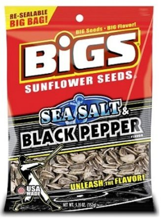 Bigs Sea Salt and Black Pepper Sunflowers Seeds, 5.35-Ounce (Pack of 48) by USA