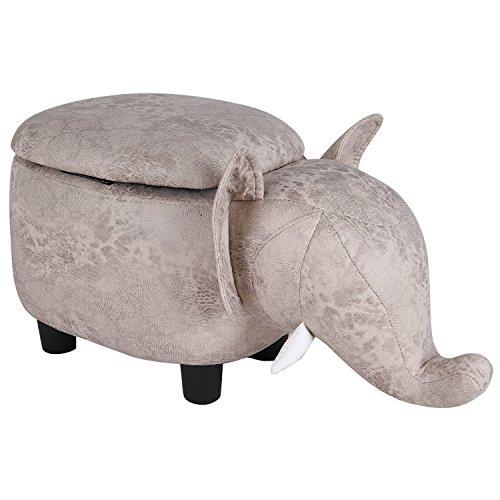 KIMIMOON Adorable Storage Ottoman Bench,Comforable Footrest