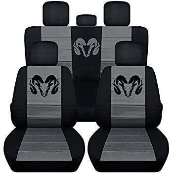 Black Rear Car Seat Covers
