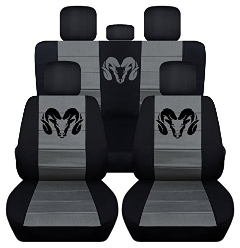 Designcovers Fits 2012 to 2017 Dodge Ram Front and Rear Ram Seat Covers 22 Color Options (40-60 ...
