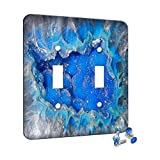 Decorative wall plate cover. Includes screw(s). Proudly made in the USA. Coordinating Plates Available for other Switch Configurations, A/C Outlets and Combo Layouts. Scratch resistent design printed on washable metal plate.