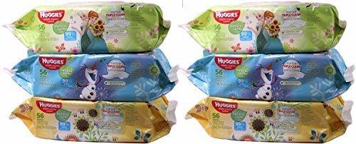 Huggies Natural Care Fresh Wipes, Softer Triple Clean, 6 Packs of 56 Wipes each; 336 Wipes Total by HUGGIES