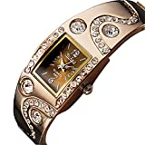 Soleasy Women's Bracelet Style Analog Quartz Metal Watch WTH1028