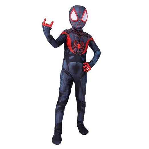 QQWE Traje Cosplay De Spiderman Children Miles Morales Traje ...