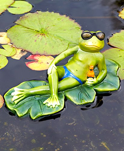 The Lakeside Collection Floating Friend Statues Male Frog