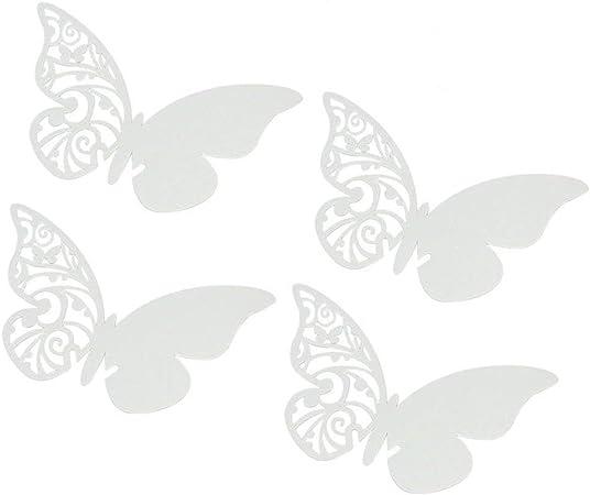 100 violet /& blanc grande table parfaite CONFETTIS PAPILLON PAPILLONS papier 3D
