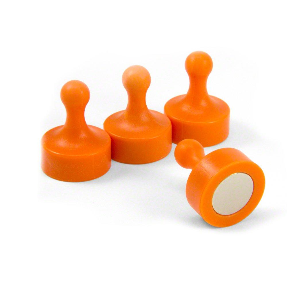 Magnet Expert® Orange Jumbo Skittle Magnets - Office & Fridge (29mm dia x 38mm tall) ( Pack of 4 ) Magnet Expert® F4MSOJU-4