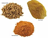 Jalpur Millers Spice Combo Pack - Cardamom Powder 100g - Clove Powder 100g - Star Anise Powder 100g (3 Pack)