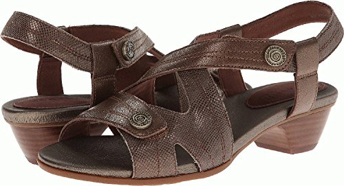 Bronze Multi Leather Footwear - Aravon Women's Sonia Bronze Multi Sandal 7 M (B)