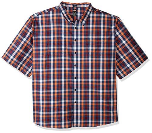 - Dickies Men's Yarn Dyed Plaid Short Sleeve Shirt Big-Tall, Rinsed Dark Navy Multi, 6T