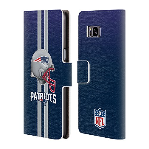 New England Patriots Logo Leather Book Wallet Case Cover For Samsung Galaxy S8+ / S8 Plus (New England Patriots Helmet Logo)