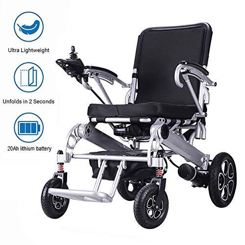 Silla de ruedas electrica plegable de peso ligero, con 20Ah Li-ion, Silla Vespa ultra portatil plegable motorizado de alimentacion para personas de movilidad reducida y Movilidad de edad avanzada