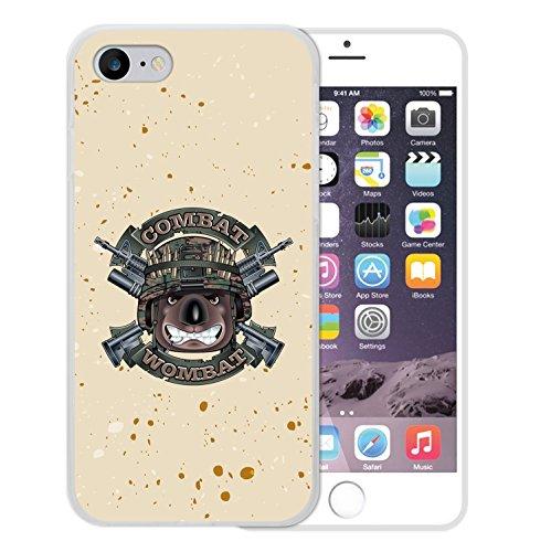 WoowCase Hülle Case für [ iPhone 7 ] Handy Cover Schutzhülle Militärischer Hund