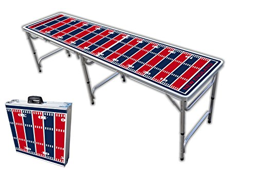 Nfl Tailgate Table - 8-Foot Professional Beer Pong Table - New England Football Field Graphic