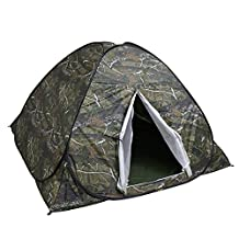 Ezyoutdoor Camping Tent 2-3 Person Instant Camping Hiking Travelling Beach Shelter Pop Up Tent with Gift Mat Pad