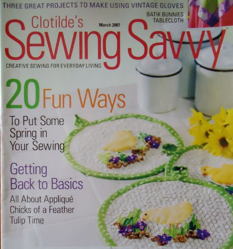(Clotilde's Sewing Savvy March 2007)