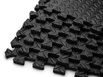 HemingWeigh Puzzle Exercise Mat High Quality EVA Foam Interlocking Tiles