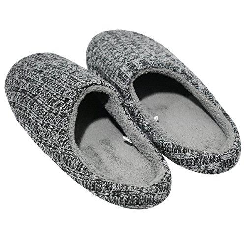 Coface Heren Huis Slippers Kasjmier Gebreide Antislip Winter Warm Thuis Indoor Schoenen, Dgy-4041