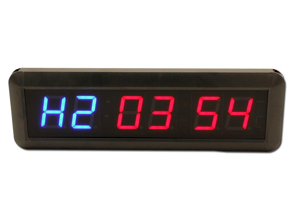 EU Display Timer for For Home Garage Gym. (1.8''+Blue+Red)