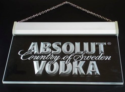 A025-b Absolut Vodka Country of Sweden Beer Neon Bar Sign