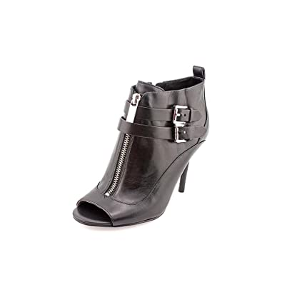 Brena Open Toe Womens Size 7.5 Black Leather Fashion Ankle Boots
