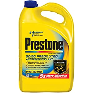 Prestone AF2100-6PK Extended Life 50/50 Antifreeze - 1 Gallon, (Pack of 6)