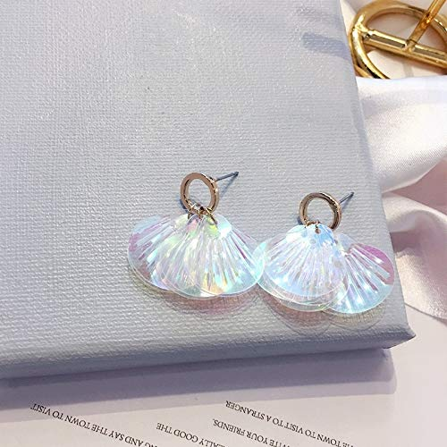 (Colorful Sequins Fashion Ear Jewelry Creative Long Necklace Pendant Earrings Earring Dangler Eardrop Women Girls (5 Short Paragraph Shells)