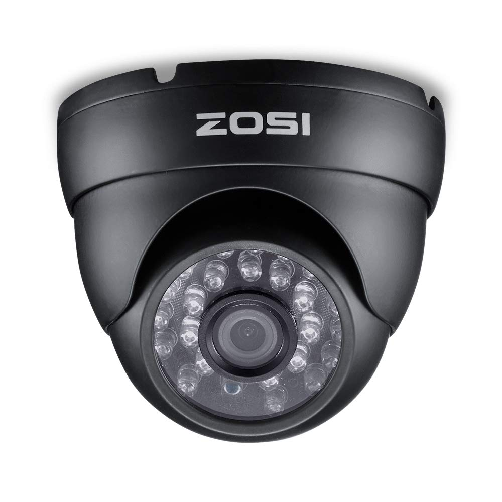 ZOSI 2.0 Megapixel HD 1080P 4-in-1 TVI/CVI/AHD/CVBS CCTV Camera Home Security Day/Night Waterproof Camera, 65ft(20m) IR Distance, Compatible for HD-TVI, AHD, CVI, and CVBS/960H Analog DVR