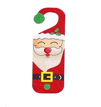 Amazon Com Ebtoys Christmas Door Knob Hanger Santa Claus Hook Sign