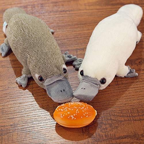 happyhouse009 Plüsch-Spielzeug, niedliches Cartoon-Plüsch-Plüsch-gefüllte Platypus-Tierpuppe für Kinder, Spielzeug, Geschenk, Heimdekoration, für Weihnachtspuppe, Geschenke, Grau