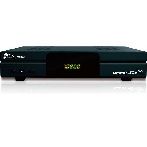 IRIS 9700 HD 02 - Receptor de TV por satélite (WiFi, HDMI, DVB-S2) color negro