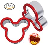 Kyпить Hibery 2 Pack Stainless Steel Sandwiches Cutter, Mickey Mouse Cookie Cutter, Food Grade Stainless Steel Biscuit Mold Cookie Cutter for Kids Suitable for Cakes and Cookie на Amazon.com