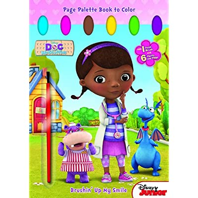 Bendon Publishing Doc McStuffins Brushin' Up My Smile Page Palette Book to Color: Disney Enterprises, Inc.: Toys & Games