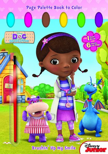 Bendon Publishing Doc McStuffins Brushin' Up My Smile Page Palette Book to Color by Bendon (Image #1)